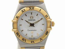OMEGA オメガ コンステレーション ミニ ウォッチ 腕時計 1362.70 シルバー K18YG(750)イエ