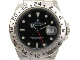 ROLEX ロレックス エクスプローラー2 ウォッチ 腕時計 メンズ 16570 ブラック ステンレススチール(S