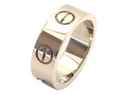 Cartier カルティエ ラブリング 指輪 シルバー K18WG(750) ホワイトゴールド 【中古】【ランクB