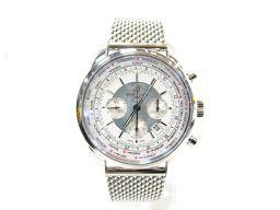 BREITLING ブライトリング トランスオーシャン 腕時計 AB0510 シルバーxホワイト ステンレススチー