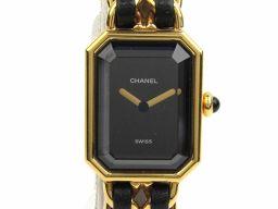 CHANEL シャネル プルミエールS ウォッチ 腕時計 H0001 ゴールド レザーベルト xxGP(ゴールドメ
