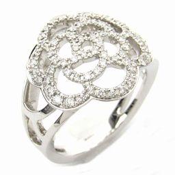 CHANEL シャネル カメリアダイヤモンド リング 指輪 クリアー K18WG(750) ホワイトゴールド xダ