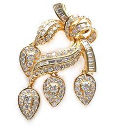JEWELRY ジュエリー ダイヤモンド ブローチ クリアー K18YG(750) イエローゴールド  x ダイヤ