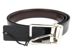 Calvin Klein カルバン・クライン リバーシブル ベルト 18295 ブラック x ブラウン 牛革(カー