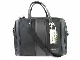 DIESEL ディーゼル 2wayビジネスバッグ X03208P0541H1669 ブラック ポリエステル x ポ