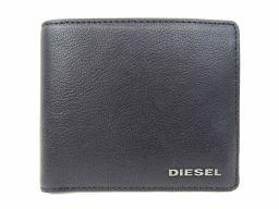 DIESEL ディーゼル 二つ折財布 X03925PR271T8013 ブラック レザー 【新品同様】 レディース