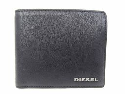DIESEL ディーゼル 二つ折財布 X03925PR271T8013 ブラック レザー 【新品同様】 メンズ/レ