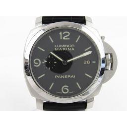 PANERAI パネライ ルミノール マリーナ ウォッチ 腕時計 PAM00312 ブラック レザーベルト xステ