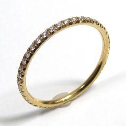 TIFFANY&CO ティファニー メトロリング フルダイヤモンド 指輪 クリアー K18YG(750) イエロー