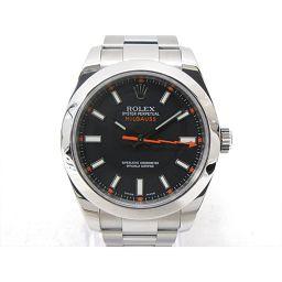ROLEX ロレックス ミルガウス 腕時計 ウォッチ 116400 ブラック ステンレススチール(SS) 【中古】
