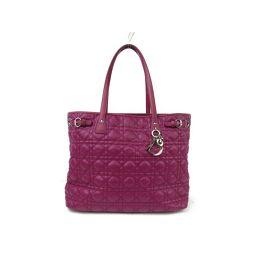 Dior クリスチャン・ディオール パナレアトートバッグ ピンク ナイロン xレザー 【中古】【ランクA】 レディ
