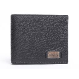 GUCCI Gucci two fold wallet black leather [as good as new] Women's