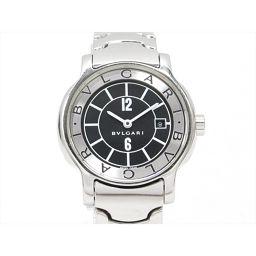 BVLGARI ブルガリ ソロテンポ 腕時計 ウォッチ ST29S ブラック ステンレススチール(SS) 【中古】