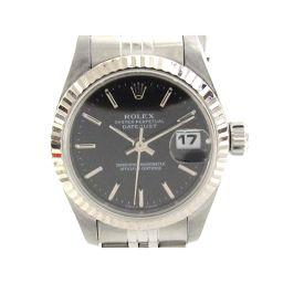 ROLEX ロレックス デイトジャスト ウォッチ 腕時計 レディース 69174 ブラック ステンレススチール(S