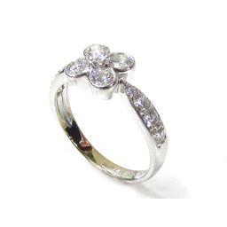 Van Cleef & Arpels ヴァンクリーフ&アーペル オンブレダイヤモンドリング 指輪 シルバー K18