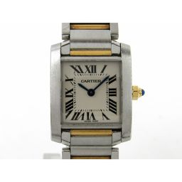 Cartier カルティエ タンクフランセーズSM ウォッチ 腕時計 W51007Q4 シルバー K18YG(75