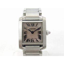 Cartier カルティエ タンクフランセーズSM ウォッチ 腕時計 シルバー ステンレススチール(SS) 【中古