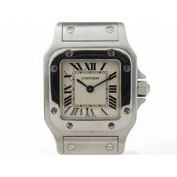 Cartier カルティエ サントス ガルベSM ウォッチ 腕時計 シルバー ステンレススチール(SS) 【中古】