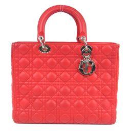 Dior クリスチャン・ディオール レディーディオール カナージュステッチ ハンドバッグ 2WAYショルダーバッグ