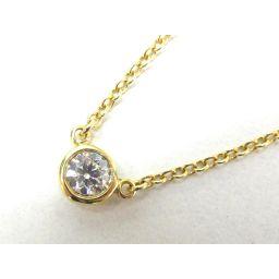 TIFFANY&CO ティファニー バイザヤードネックレス ダイヤモンド ゴールド K18YG(750) イエロー