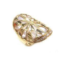 BVLGARI ブルガリ シェルインタルシオリング ダイヤモンド 指輪 ゴールド K18PG(750) ピンクゴー