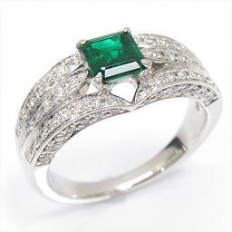 JEWELRY ジュエリー エメラルドリング 指輪 グリーン PT900 プラチナ xエメラルド(0.72ct)x