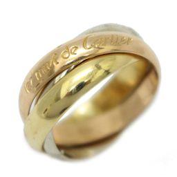 Cartier カルティエ トリニティ リング 指輪 ローズゴールド×ゴールド×シルバー K18PG(750) ピ