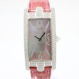 HARRY WINSTON ハリーウィンストン アベニュー ベゼルダイヤ 腕時計 330LQW ブラックシェル K