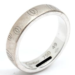 Cartier カルティエ ハッピーバースデーリング 指輪 シルバー K18WG(750) ホワイトゴールド 【中