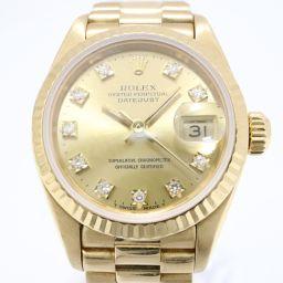 ROLEX ロレックス デイトジャスト 10Pダイヤ 新J 旧P 腕時計 69178G N番 シャンパン K18Y