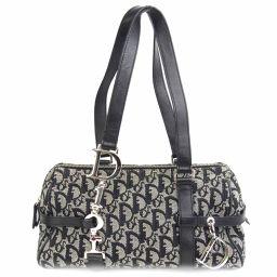 Dior Christian · Dior Handbag Black Canvas x Leather 【Used】 【Rank B】 Lady