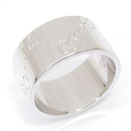 GUCCI グッチ アイコンワイドリング 指輪 シルバー K18WG(750) ホワイトゴールド 【中古】【ランク