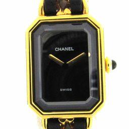 CHANEL シャネル プルミエールM ウォッチ 腕時計 H0001 ゴールド レザーベルト xGP(ゴールドメッ