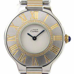 Cartier カルティエ マスト21 ウォッチ 腕時計 シルバー ステンレススチール(SS) xGP(ゴールドメ