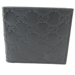 GUCCI グッチ グッチシマ 二つ折財布 365467 ブラック レザー 【中古】【ランクA】 メンズ