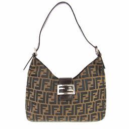 FENDI Fendi Zucca One Shoulder Bag Brown Canvas x Leather [Used] [Rank A]
