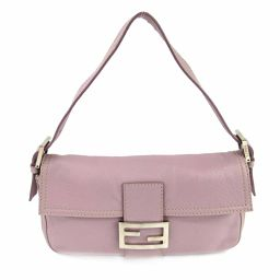 FENDI Fendi Mamma Bucket Shoulder Bag Light Pink Leather [Used] [Rank A] Women's