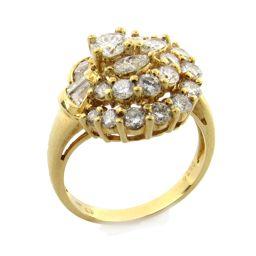 JEWELRY ジュエリー ダイヤモンド リング 指輪 クリアー K18YG(750) イエローゴールド  x ダ