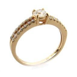 JEWELRY ジュエリー ダイヤモンド リング 指輪 クリアー K18PG(750) ピンクゴールド  x ダイ
