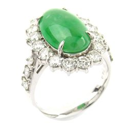JEWELRY ジュエリー ヒスイ ダイヤモンド リング 指輪 グリーン PT900 プラチナ  x ヒスイ (4