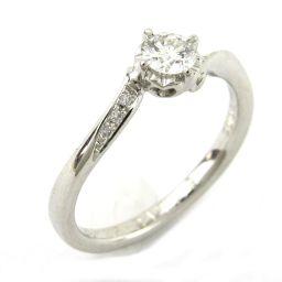 4℃ ヨンドシー ダイヤモンド リング 指輪 クリアー PT950 プラチナ xダイヤモンド0.232ct 【中古