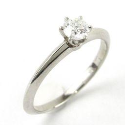 TIFFANY&CO ティファニー ソリティア ダイヤモンド リング 指輪 クリアー PT950 プラチナ xダイ