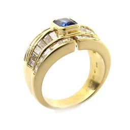 JEWELRY ジュエリー サファイア ダイヤモンド リング 指輪 ブルー K18YG(750) イエローゴールド