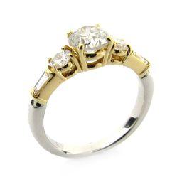 JEWELRY ジュエリー ダイヤモンド リング 指輪 クリアー PT900 プラチナ  K18YG(750)イエ