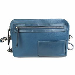 Christian louboutin Christian Louboutin shoulder bag blue embossed leather [pre]