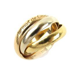 Cartier カルティエ トリニティリング 指輪 ゴールド K18YG(750) イエローゴールド x K18W