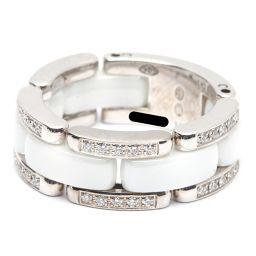 CHANEL シャネル ウルトラリング ダイヤモンドリング 指輪 ホワイト K18WG(750) ホワイトゴールド