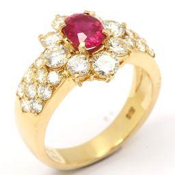 JEWELRY ジュエリー ルビー ダイヤモンド リング 指輪 レッド K18YG(750) イエローゴールド