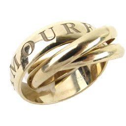 Cartier カルティエ トリニティリング 98Xmas限定 リング 指輪 シルバー K18WG(750) ホワ