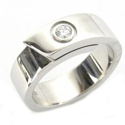 Cartier カルティエ アニバーサリー 1Pダイヤモンド リング 指輪 ホワイト K18WG(750) ホワイ